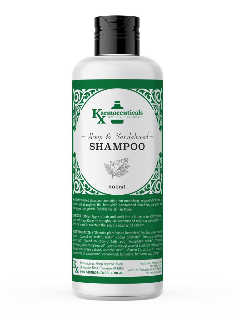 hemp and sandalwood shampoo