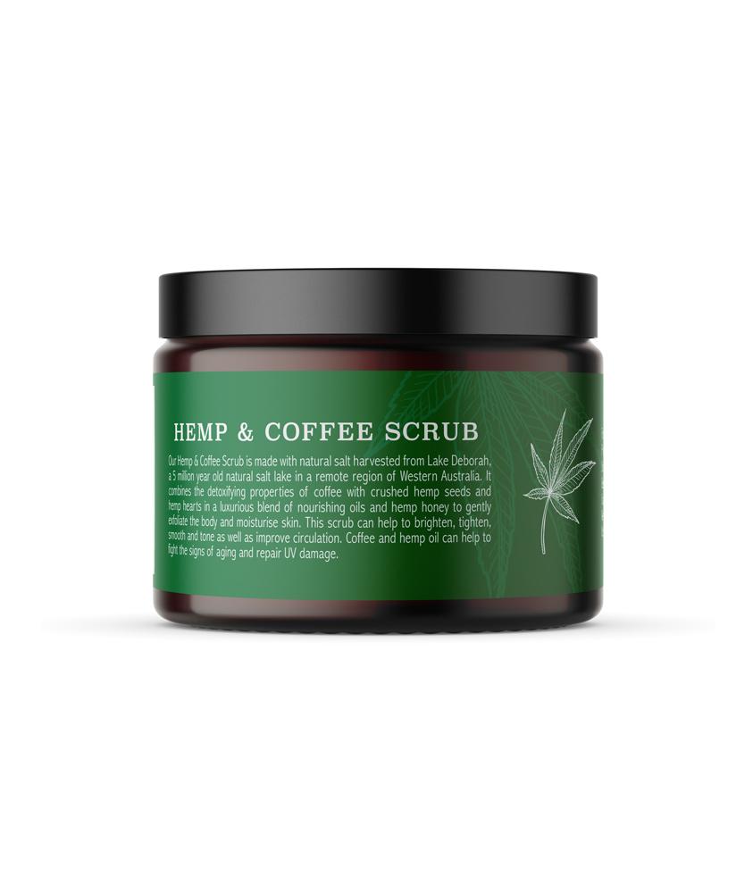 hemp and coffee scrub