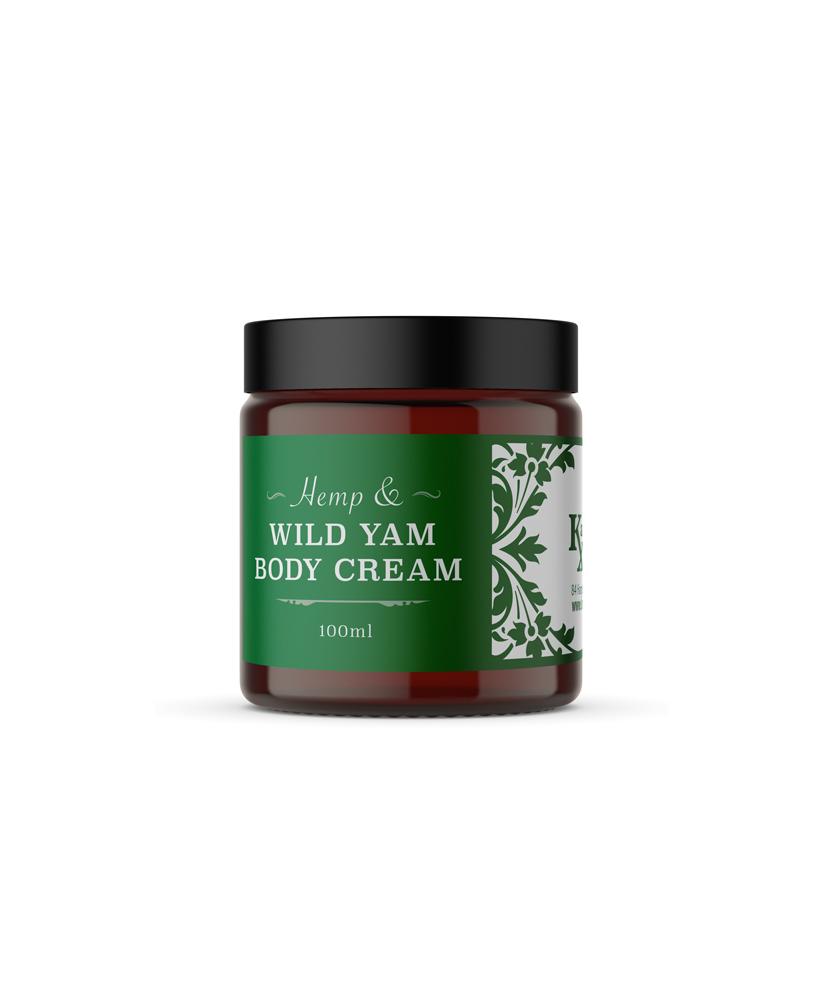 hemp and wild yam body cream