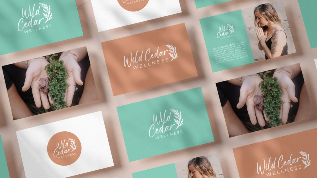 Multiple branded images of Wild Cedar Wellness