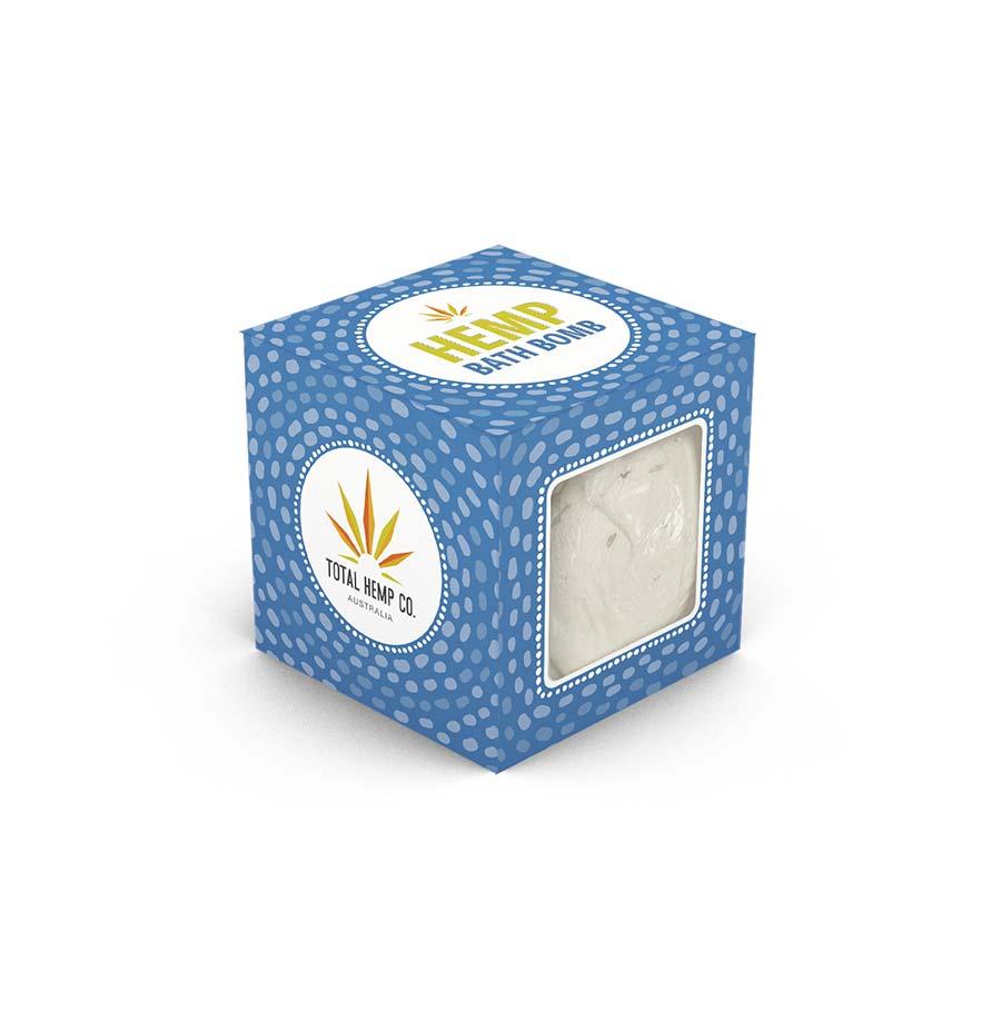 hemp bath bomb in gift box