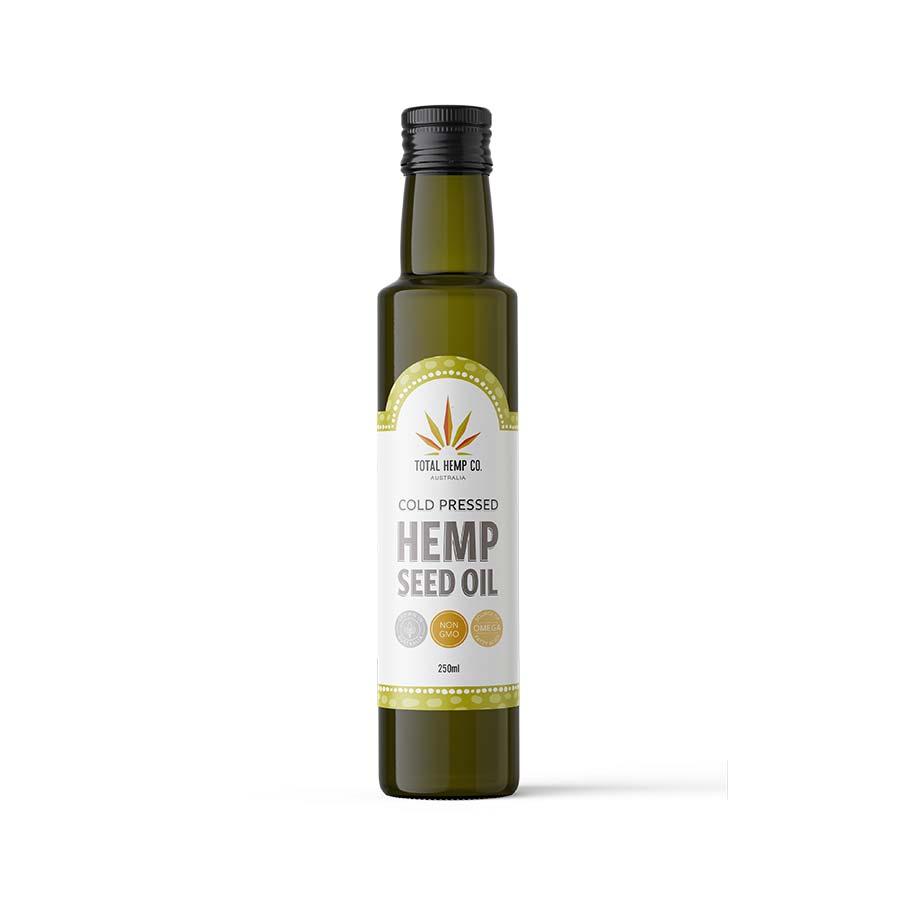 hemp seed oil bottle