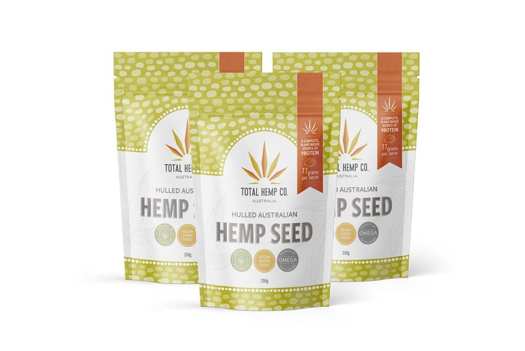 3 pouches of hemp seed